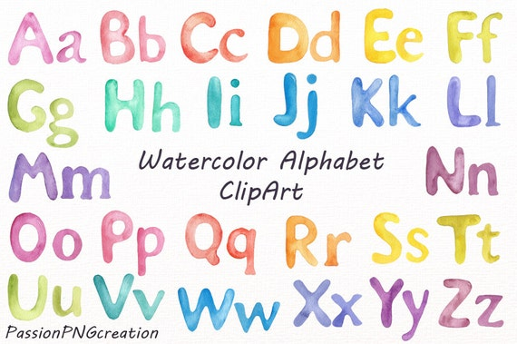 Watercolor alphabet clipart watercolor letters rainbow alphabet watercolor alphabet clipart watercolor letters rainbow alphabet digital alphabet png watercolour for personal and commercial use de passionpngcreation thecheapjerseys Choice Image