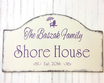Jersey shore house sign, custom beach decor, personalized plaque, beach cottage, custom cottage sign, realtor housewarming, Mother's day