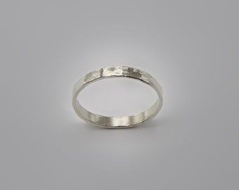 Stacking Rings- Sterling Silver Rings Hammered  Rings1 Circles Rings Silver Stacking Rings