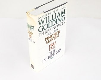Three Novels: Pincher Martin, Free Fall, The Inheritors  by William Golding (1997, MJF Books) Vintage Fiction Hardcover Book
