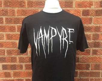 Vampyre's, goths and children of the night, this is a classic black and white horror t shirt combo for the dark of heart by Nameless City