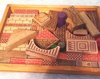 Wood building blocks - Small