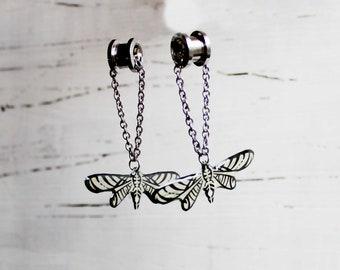butterfly earrings stretched ears ear plugs 0g ear gauges 00g ear tunnels dangle plugs dangle gauges ear gauges plugs and tunnels earrings
