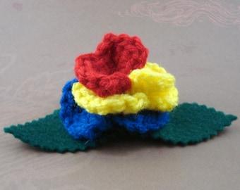 Crocheted Rose Hair Clip - Hero (SWG-HC-HEFC01)