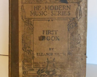 1901 First Book of Vocal Music Antique Music Textbook for Children