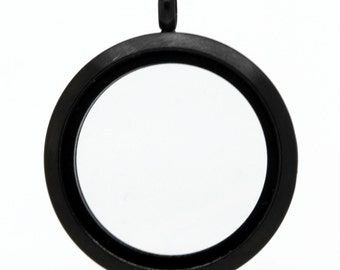 Large Black Matte Locket