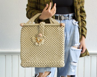 70s Thick Woven Tote bag