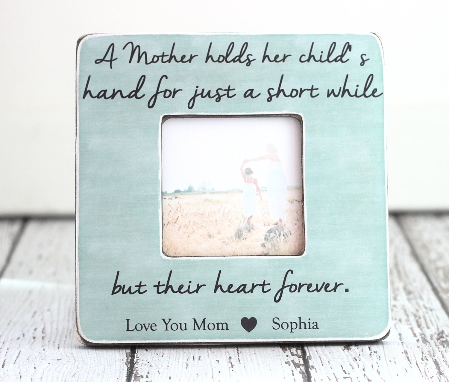 Mom Gift Personalized Picture Frame Mom Mum Custom Gift Quote