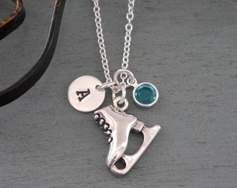 Ice skating necklace etsy quick view ice skate necklace aloadofball Gallery