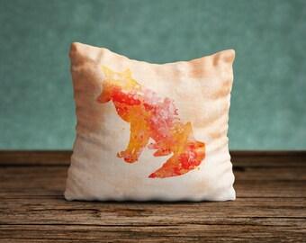 Fox Pillow Case, Fox Pillow Cover, Fox Throw Pillow, Animal Pillow Case, Woodland Nursery Decor, Forest Animals, Fox Cushion, Cabin Decor