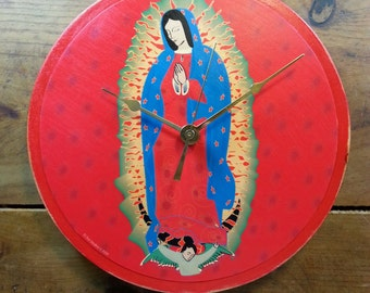 Virgensita (Red) Wall Clock