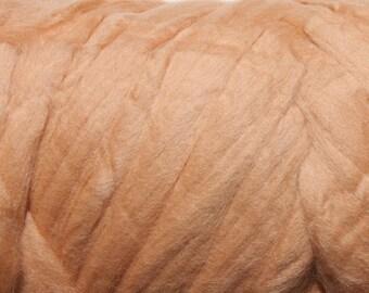 4 oz 19 micron Merino Wool Roving Extra Fine Dune Light brown Felting Supplies Nuno Felting Spinning Weaving Knitting extrafine tops