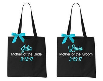 Mother of the Bride Tote Personalized Groom Bag Bags Gift Totes Bridesmaid Gift Bridesmaids Wedding Party