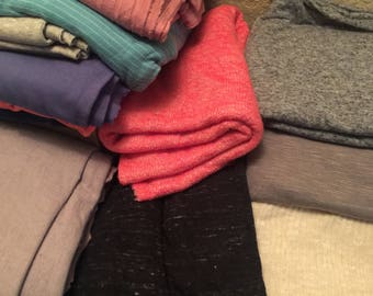 Random Variety of Jersey Knits Various Length,Color Options,Hacci Knits