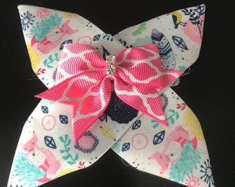 Floral, Woodland, Girly Bow