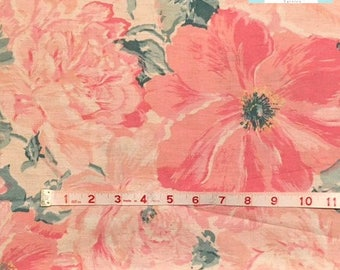 Vintage Pillowcase with Large Pink Floral