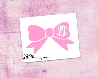 Bow Monogram Stickers