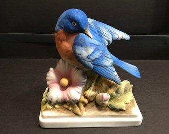 Porcelain blue bird
