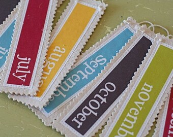 Month Fabric Labels