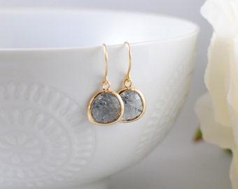 The Phoenix Anne Earrings - Grey/Gold