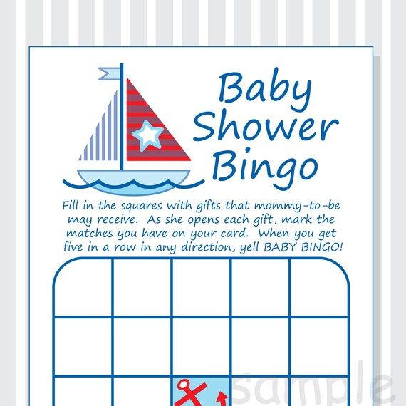 how to make your own baby bingo cards