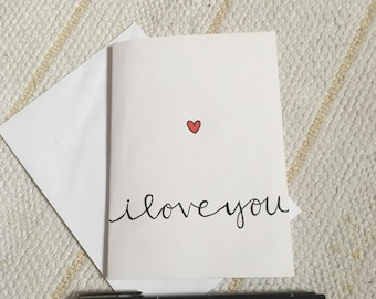 Handmade I love you card // Heart I love you // Anniversary // Wife // Husband // Gifts for him // Gifts for her