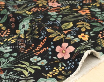 Cotton + Steel Amalfi canvas - herb garden midnight - 50cm
