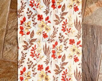 Vintage 1950s Bark Cloth Panel/Remnant 53 W x 102 cm L