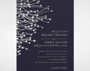 Beautiful Branch Foil Wedding Invitation - IWF16094-GB-MS