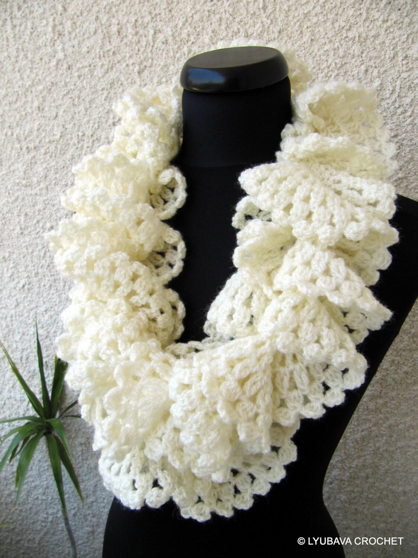 Crochet Scarf PATTERN Ruffle Scarf Pattern Crochet Ruffle