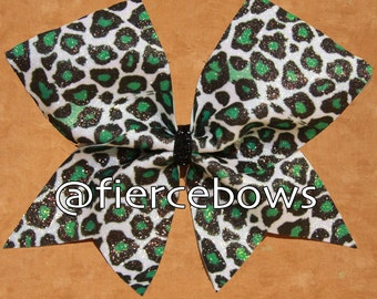 Love Cheetah Sublimated Glitter Bow (Choose Your Color)