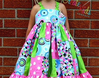 Penny's Patchwork Twirly Dress PDF Pattern NEW sizes 6-12 months to size 8