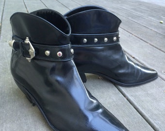 Vintage Via Spiga Italian leather rocker ankle boots sz 7 - 7.5