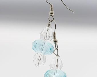 Light Blue and White Earrings