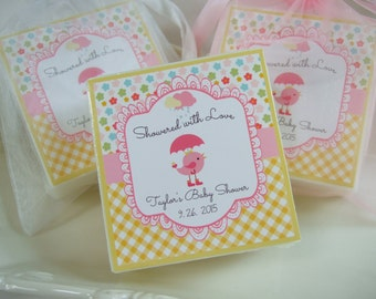 Baby Girl Shower Favors, Showers of Love,  Soap Favors, set of 10