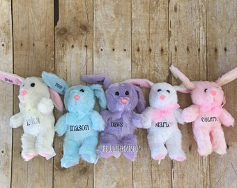 Easter basket plush etsy clearance personalized plush easter bunny easter basket gift stuffed animal negle