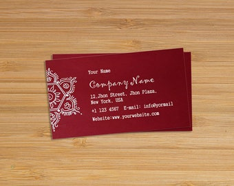 Business card design etsy business card design with print 100 cards reheart Image collections