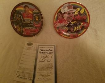 Jeff Gordon commemorative plates