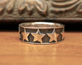 Vintage 925 Sterling Silver Star Ring