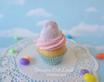 Fake Cupcake Handmade Easter Spring Faux Candy Chick Home Decor
