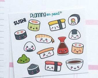 Kawaii Sushi Planner Stickers!