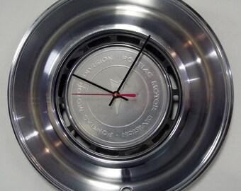 1975 1976 Pontiac Firebird Hubcap Clock LeMans Wall Clock