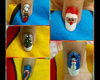 christmas fake nails, press on nails, false nails, christmas press on nails, fake nails, acrylic nails, christmas nails, nail art, christmas