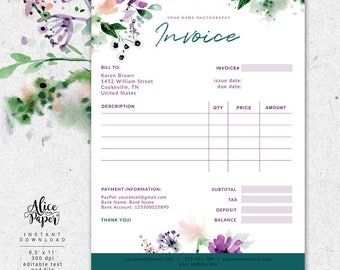 Invoice template photography invoice business invoice invoice template photography invoice receipt template for photographers business invoice photography forms stopboris Images