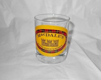 1970s barware MacDale's butterscotch schnapps anchor hocking shot glass