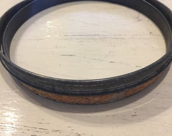 1917 adjustable embroidery hoop metal and cork 5""