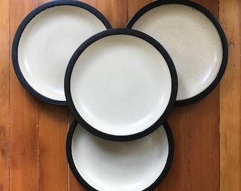 Set of 4 Vintage Edith Heath Rim Line Dinner Plates