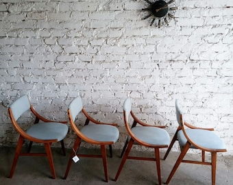 Four Mid Century chairs 70'
