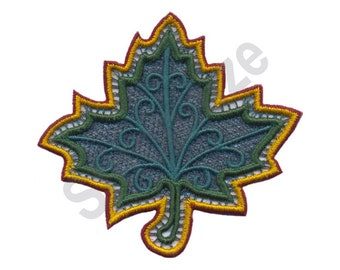 Leaf - Machine Embroidery Design, Sycamore Leaf