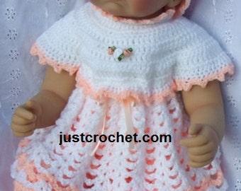 Angel Top, Bloomers & Floppy Hat Baby Crochet Pattern (DOWNLOAD) 45